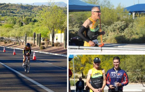 Team Hometown Bicycles rider David Burkhart at the Oro Valley Duathlon in Tucson, Arizona
