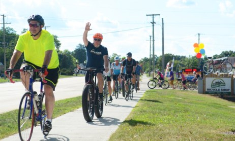 Group ride at a Hometown Bicycles event