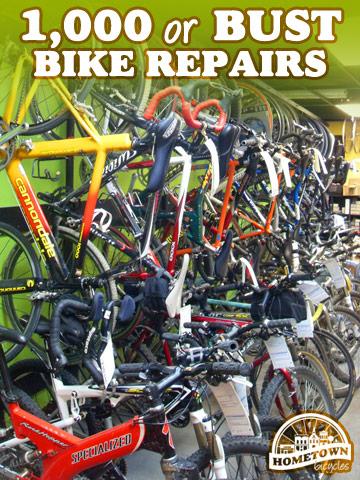 1,000 bicycle repairs by December 31, 2010
