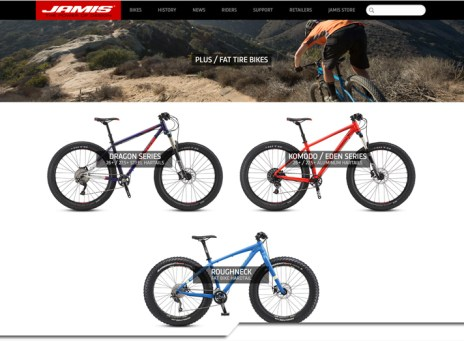 Jamis Bicycles fat bike website