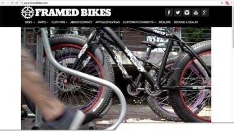 Framed Bikes website