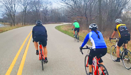 Hometown Bicycles shop ride at Island Lake