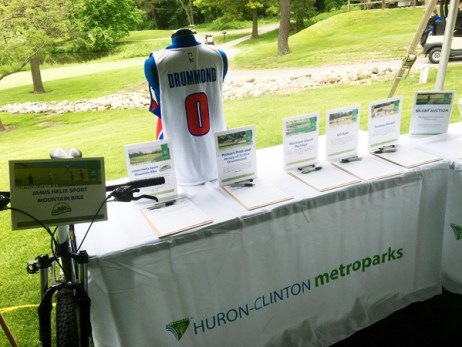 Hometown Bicycles bicycle donation at the Huron-Clinton Metroparks Charity Golf Classic Auction