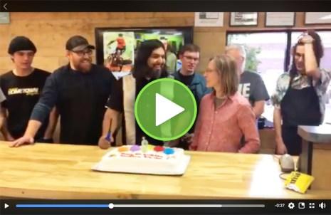 Hometown Bicycles 8th Birthday singing Happy Birthday video