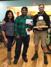 Team Hometown Bicycles' Jack Riddle, winner of Hometown Bicycles' 3rd Annual Chili Cook-Off