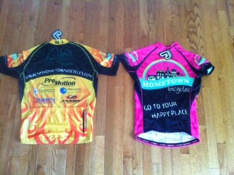 Hometown Bicycles team jerseys