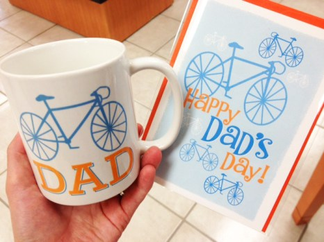 Father's Day bicycle gifts and cards at Hometown Bicycles