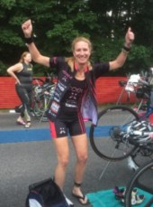 Hometown Bicycles' Amy Gluck at a Half Ironman