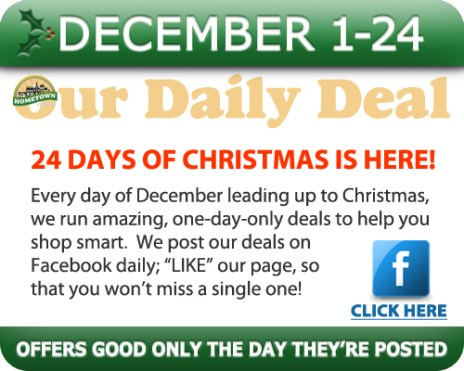 Hometown Bicycles Daily Deal - 24 Days of Christmas Deals!