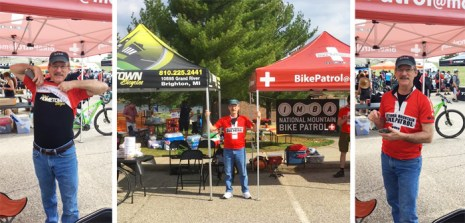 Team Hometown Bicycles' Leslie Cook representing for both Hometown and National Mountain Bike Patrol