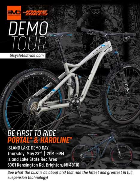 Jamis Bike Demo with Hometown Bicycles at Island Lake