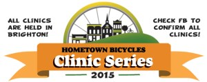 Hometown Bicycles Bike Clinic Series 2015 logo