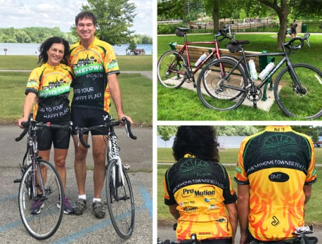Miles and Ann Janicki celebrating 32 years of marriage with a Hometown Bicycles style cycling adventure!