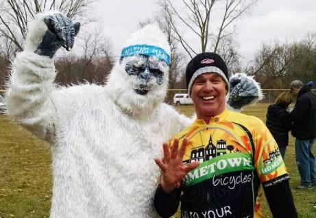 Joe Van Gordon with the Abominal Melting Mann at Melting Mann Dirt Road Bike Challenge in Vandalia, Michigan