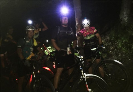 Hometown Bicycles Night Ride at Island Lake