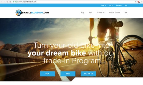 Bicycle Blue Book website