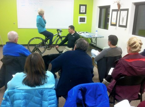 Bike Fitting Clinic with Vinnie Baylerian of Pro-Motion Physical Therapy at Hometown Bicycles Winter Clinic Series