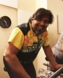 Shaun Bhajan of Hometown Bicycles at Hamburg Fitness Center spin class