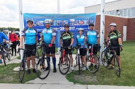 Team Hometown Bicycles' Jim Cleer and Tom Hermann at the Blue Water Ramble