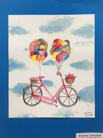 Brianne Campbell's bicycle balloon art at Hometown Bicycles