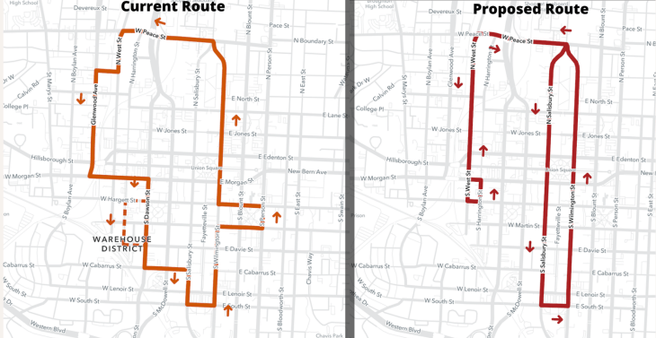 New R-line route