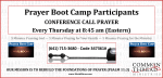 PBC Attendees Conference Call Info