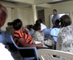 Mark Mirza teaching a Prayer Boot Camp in Nakuru