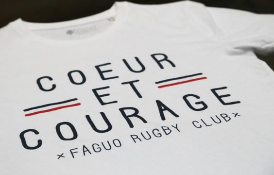 tshirt faguo coeur et courage zoom