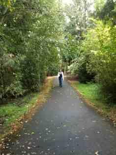 Sheri on walking path
