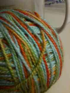 colorful yarn ball