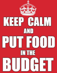 Keep Calm Put Food in the Budget