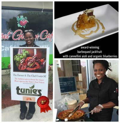 chef lynn, vegan, vegan competition, tunie's, farmer and chef, the farmer and chef, barbecued jackfruit, barbequed jackfruit, BBQ jackfruit, jackfruit, lynn dorsey, chef lynn dorsey, secret garden, secret garden cafe, heal the planet, heal the planet broward, fort lauderdale
