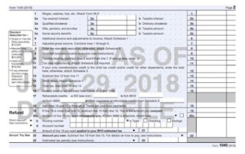 SPECIAL EDITION: IRS ROLLS OUT PRE-DRAFT COPY OF NEW FORM