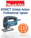 Makita 4350CT Orbital Action Professional Jigsaw  £115 ex vat