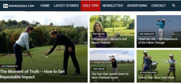 Golf Tips page on womensgolf.com