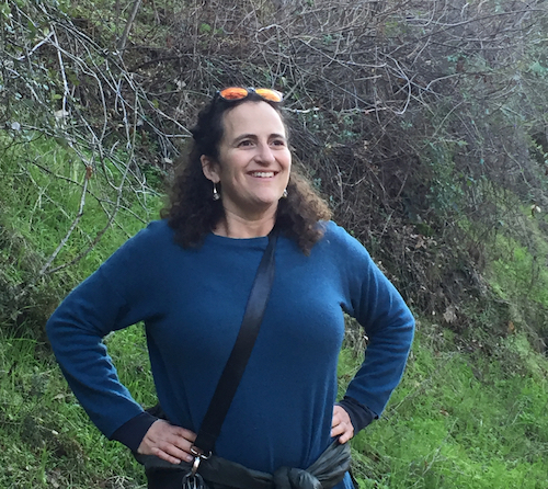 Associate Director Jennie Dorman pauses to enjoy the view mid-hike