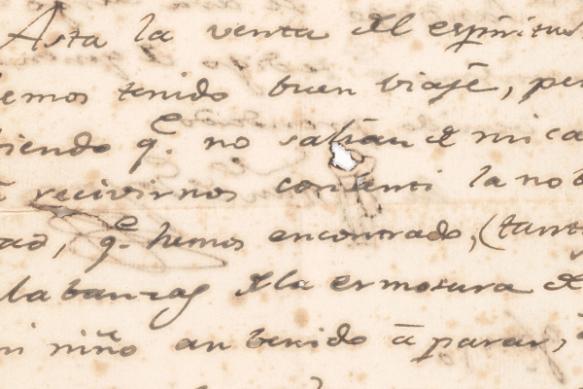 Detalle de la carta