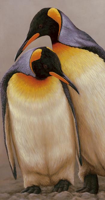 original wildlife painting penguins