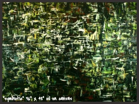 """symbiotic"" oil on canvas 36""x48"""