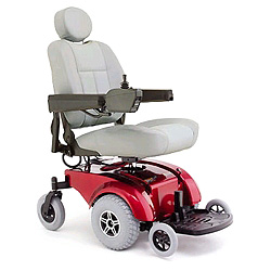 Picture of consumer style power wheelchair.