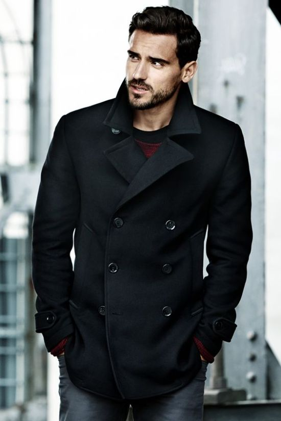 Arthur Kulkuv Looking Fantastic in a Pea Coat