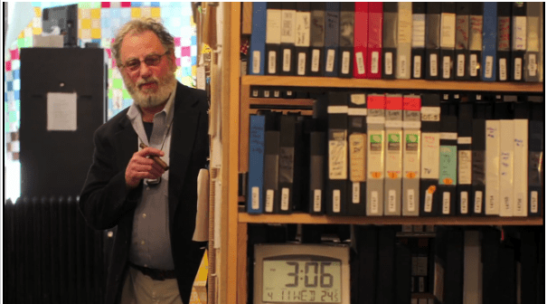 Tom Weinberg at the Media Burn Archive (Chicago Tribune photo)