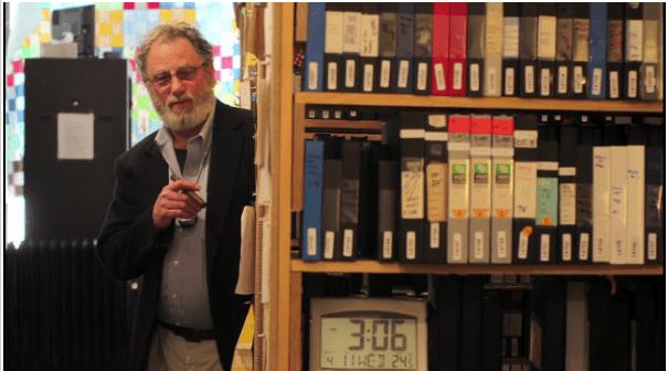 Tom Weinberg at the Media Burn Archive (Chicago Tribune photo)