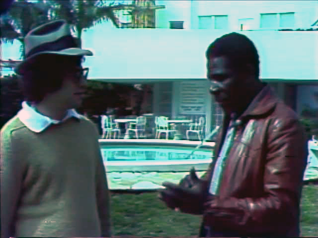 Minnie Minoso with Tom Weinberg, 1976