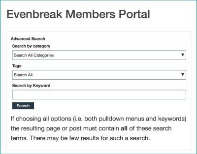 Evenbreak Search Form