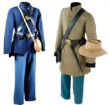 Union and Confederate uniforms