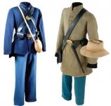 Union and Confederate uniforms