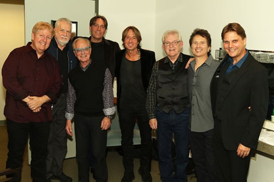 Keith Urban with Don Williams' band & crew