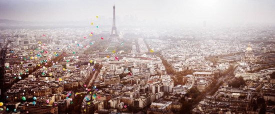 """Page 60/61 of©Dreamscapesby David Drebin, published by teNeues """"BALLOONS OVER PARIS""""Photo © 2016"""
