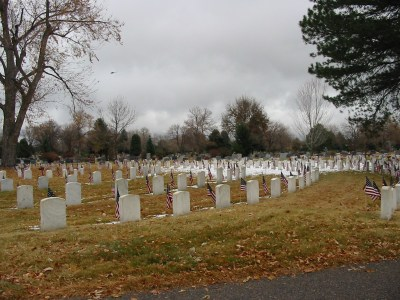 Veterans Day at Fairmount Cemetery, Denver, 2010